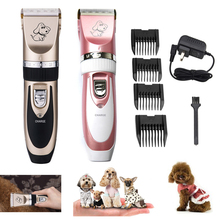 Electrical Pet Hair Trimmer Rechargeable Pet Dog Cat Low-noise Hair Clipper Grooming Shaver Cut Machine Set стоимость