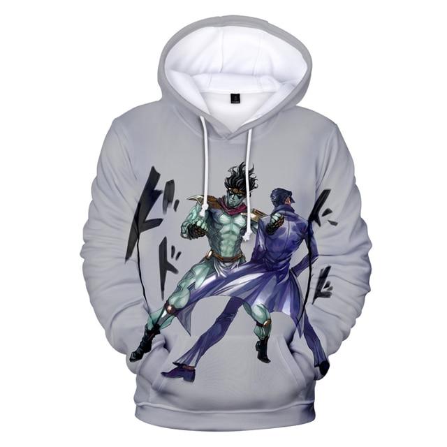 2020 Autumn 3D Print JoJo's Bizarre Adventure Hoodies Sweatshirts Men Women Hoodies Fashion Suitable JoJo Pullovers Clothes 3