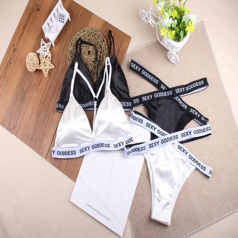 New Split English Bikini Swimsuit Beach Holiday Girl Bra Suit Women's Bra Trend Diamond Bra