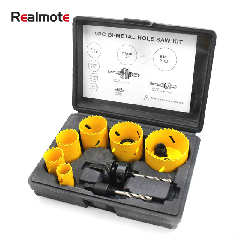 9Pcs Holesaw Blades Kit Bit Set Adjustable Hole Circular Saw Blade Cutter Metal Cutting Core Drill Cutters For Wood Multitools