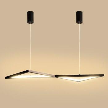 Chandelierrec modern led pendant lights for dining room decor home lighting fixtures AC85-265V hanging dimming pendant lamp