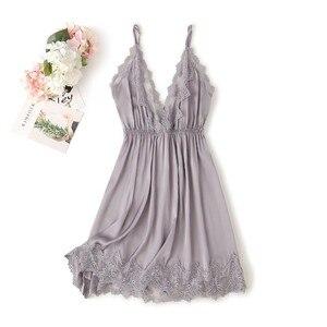 Image 2 - Lace Trim Sexy Wedding Lady Robe Suit Loose Satin Bride Bridesmaid Kimono Bathrobe Gown Mini Sleepwear Rayon Intimate Lingerie