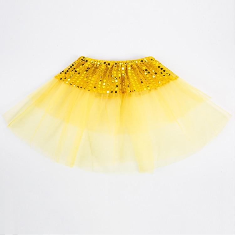 צהוב תינוק חצאית בגדי ילדים בנות טוטו חצאיות אופנה מזדמן Pettiskirt נסיכת ילד פרא ילדי של נצנצים חצאית