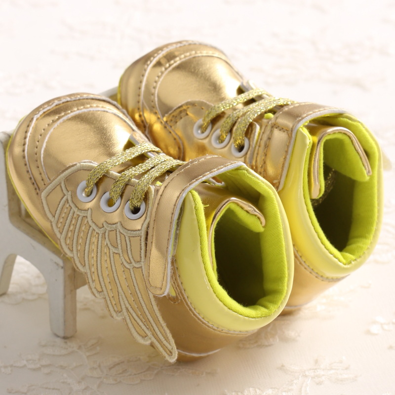 Triursus Brand Designer Unisex Baby Boys Girls Wings Shoes Spring Autumn Toddler Sneakers Golden Soft Sole Baby Sports Shoes