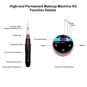 Image 3 - BIOMASER Valentines Day Gift Permanent Makeup Tattoo Machine For Eyebrow Lips Embroidery Digital Machine Strong Best for women