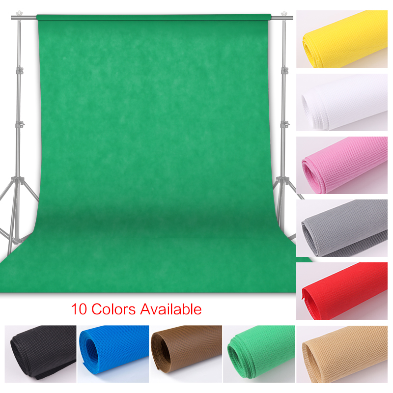 Photography 1.6x4/3/2M Photo Background Backdrop Green Screen Chroma Key for Photo Studio Background Stand Non Woven 10 Colors Background    - title=