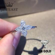 Природный алмаз 18K золото чистое кольцо красивый драгоценный камень хорошего высококлассные классическая мода изящных ювелирных изделий партии горячие продать Новый 2019