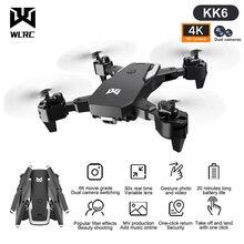 WLRC New Drone KK6 RC Drone 4K HD Dual Camera 50X Times Zoom WIFI FPV Foldable Quadcopter One-click Return Kids Toys RC Plane