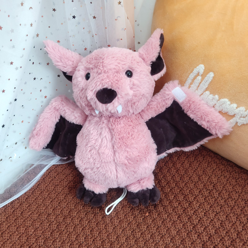 1pc 22cm Creative Cartoon Bat Plush Toy Cute Bat Baby Soft Personality With Sleep Storytelling Plush Toy Gift  Animals Model Toy