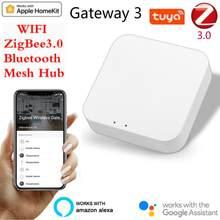 Inteligente multi-modo de gateway zigbee wifi bluetooth malha hub casa inteligente hub trabalho com mi casa app apple homekit casa inteligente controle