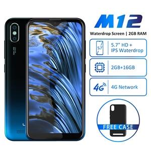 Image 5 - LEAGOO M12 Android 9.0 Cep Telefonu RAM 2GB ROM 16GB 5.7 waterdrop Akıllı Telefon Dört Çekirdekli Çift SIM LTE 4G 8.0MP Kamera Cep Telefonu