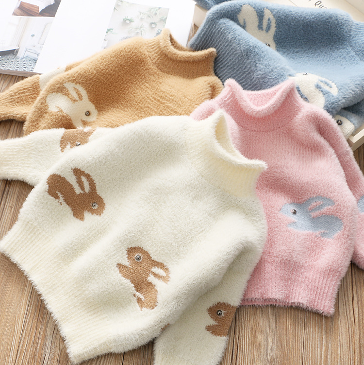 cartoon animals girl sweaters winter girl sweaters 2 4 years toddler knitting pullovers top korean style cardigans warm kids