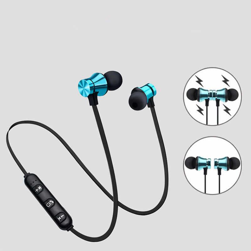 Magnetyczny bezprzewodowy zestaw słuchawkowy bluetooth XT11 muzyczny zestaw słuchawkowy telefon z pałąkiem na kark słuchawki sportowe z mikrofonem do iPhone Samsung Xiaomi
