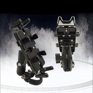 Image 4 - Super Strong Shockproof Handlebar Motorcycle Phone Holder Support Walkie Talkie Holder For GPS Bicycle Phone Holder ADV Holder