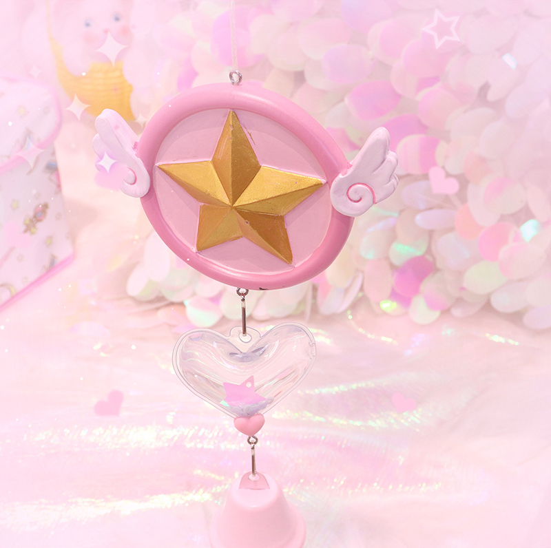 Lovely Japanese Cardcaptor Sakura Wind Chimes Windbells Home Garden Office Hanging Wind Bells Decor