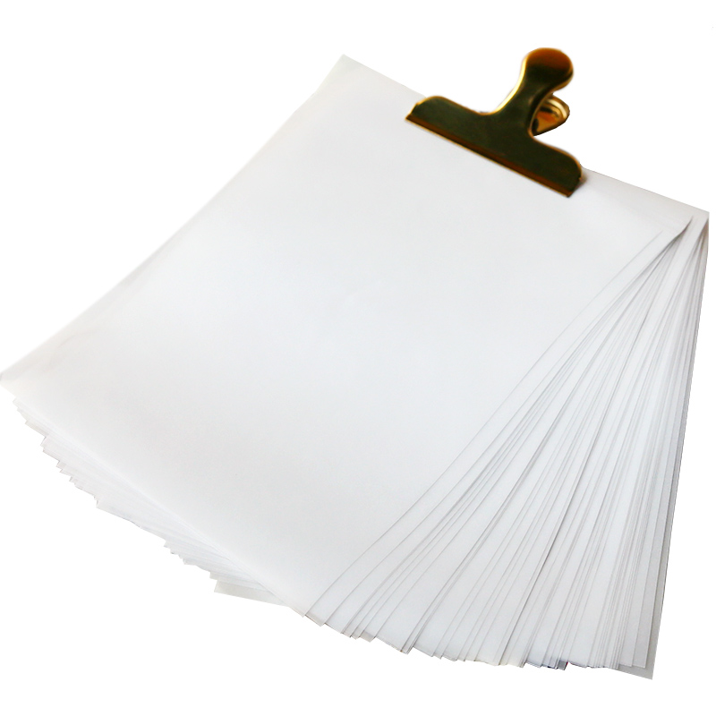 50pcs/pack A5 Translucent Paper Handmade DIY Scrapbooking Sulfuric Acid Paper Gift Blank No Print Creative 8*6 INCH