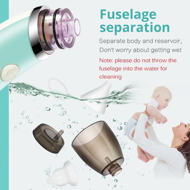 Child Baby Nasal Aspirator Electric Nose Cleaner Newborn Safe Hygienic Nose Aspirator