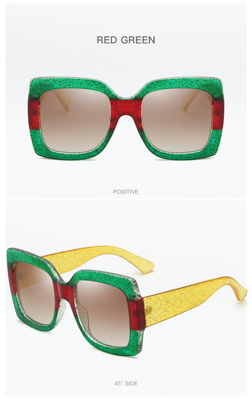 Luxury Brand Designer Square Sunglasses Shades For Women Vintage Women's Sun Glasses Cool Retro 2021 Trends Sunglasses Female gg (14)
