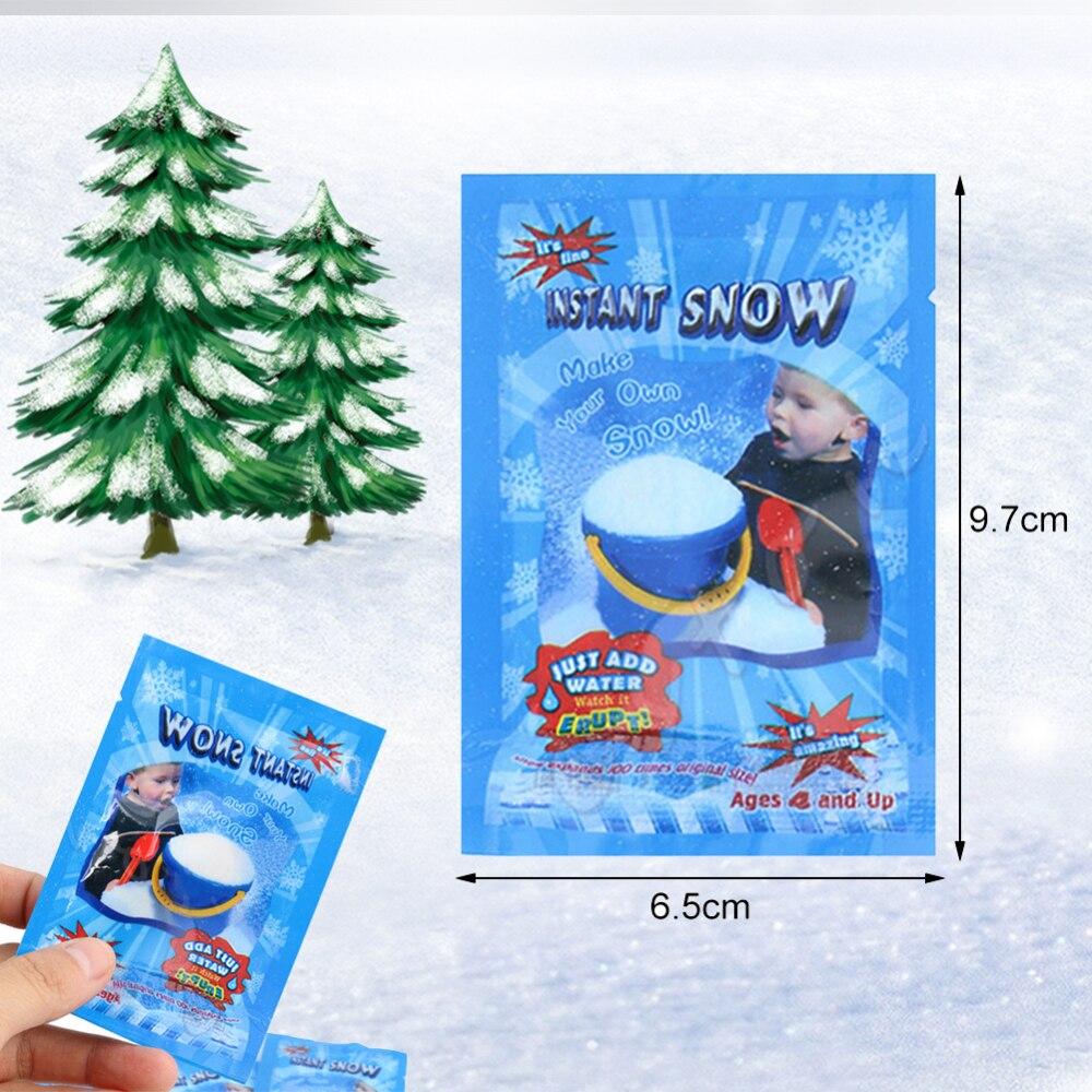 Novo 1 pcsfrozen fontes de festa mágica neve instantânea fofo artificial flocos de neve decoração para o natal ano novo criança jogar suprimentos i