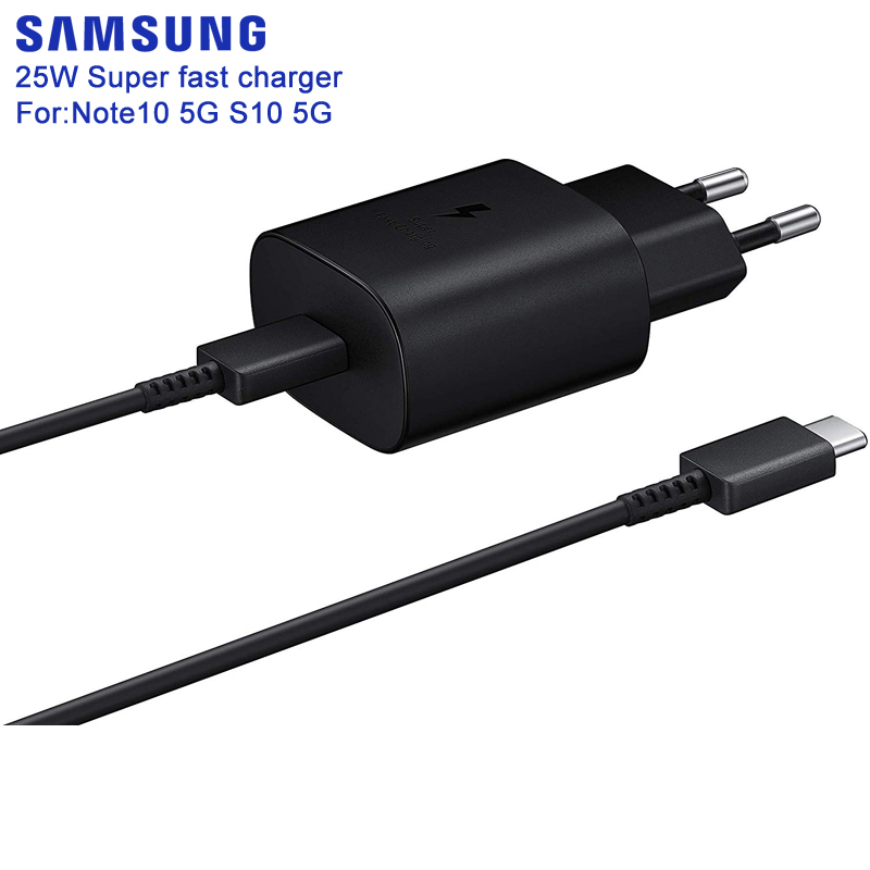 SAMSUNG Original Super Fast Charge Wall Charger EP-TA800 For Samsung GALAXY Note10 Note10 plus S10 5G S10 Plus S10Plus 5G 25W
