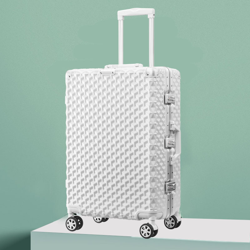 Aluminum frame Trolley case 20 inches Universal wheel Korean version Retro Travel luggage Matte Cozy Password lock fashion