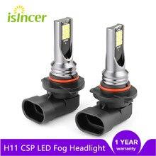 H8 H9 H1 H3 Led H4 H7 H11 9005 HB3 9006 HB4 araba CSP LED sis kafa lambası ampulleri 6000K beyaz otomatik sis lambası gündüz çalışan işık