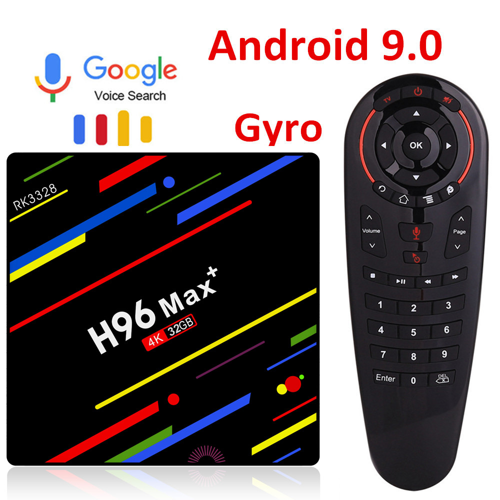 H96 MAX plus RK3328 Android 9.0 TV Box 4GB RAM 64GB ROM 32GB décodeur Wifi 4K Netflix Youtube 2G16G lecteur multimédia intelligent