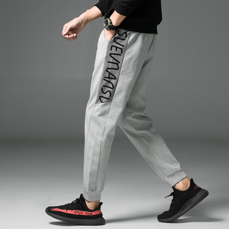 2020 New Spring Casual Sweatpants Men Letter Side Stripe Elastic Waist Street Wear men trousers title=