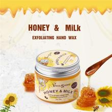 Milk Honey Hand Mask Hand Wax Moisturizing Whitening Skin Care Repair Acid Anti-Aging Hand Care Cream TSML1