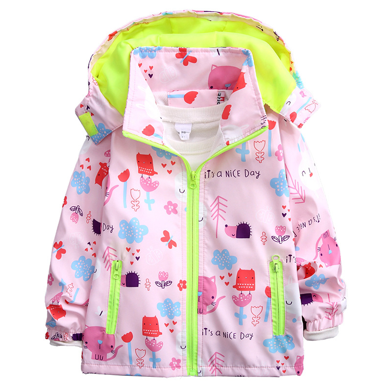 Children 39 s spring and autumn jacket girlsversion of mesh breathable storm clothes 80 90 100 110cm height in Jackets amp Coats from Mother amp Kids