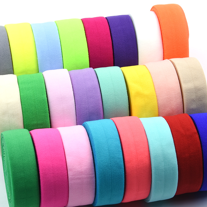 28 Colors 5 Yards 20mm Elastic Band Multirole Spandex Ribbon Sewing Lace Trim Waist Band Underwear Pants Bra Garment Accessory