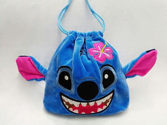 Hot 1PCS Flower Stitch Cartoon Drawstring Bags Cute Plush Storage Handbags Makeup Bag Coin Bundle Pocket Purse Cute