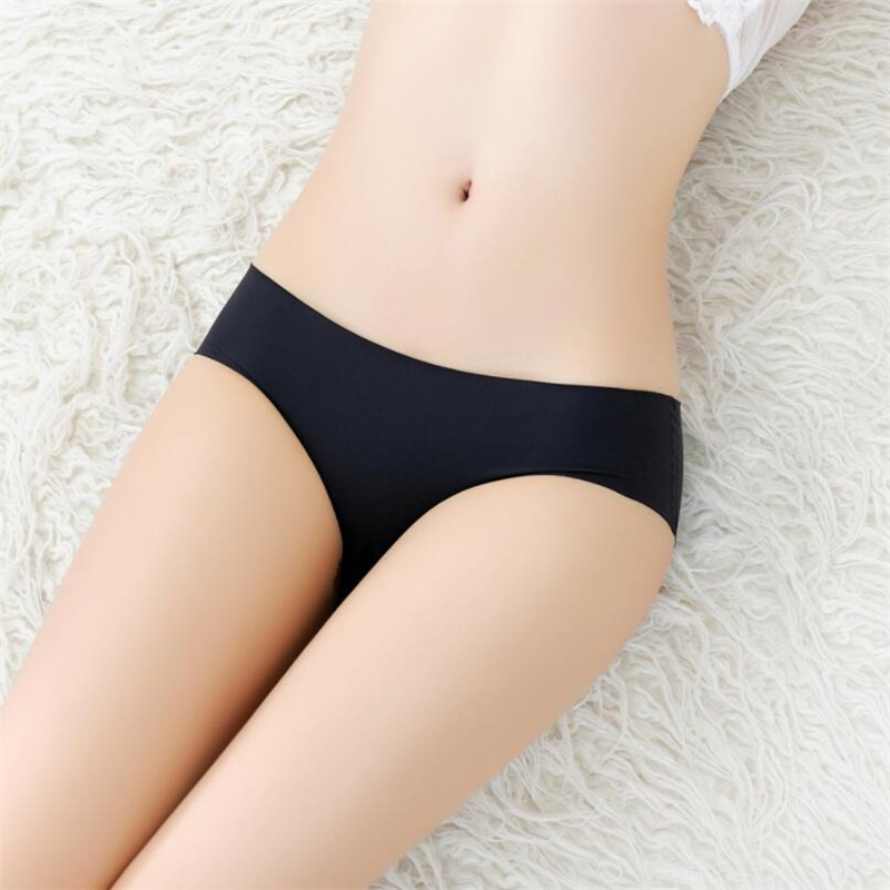 Women's Low Waist Sexy Seamless Breathable Panties 4