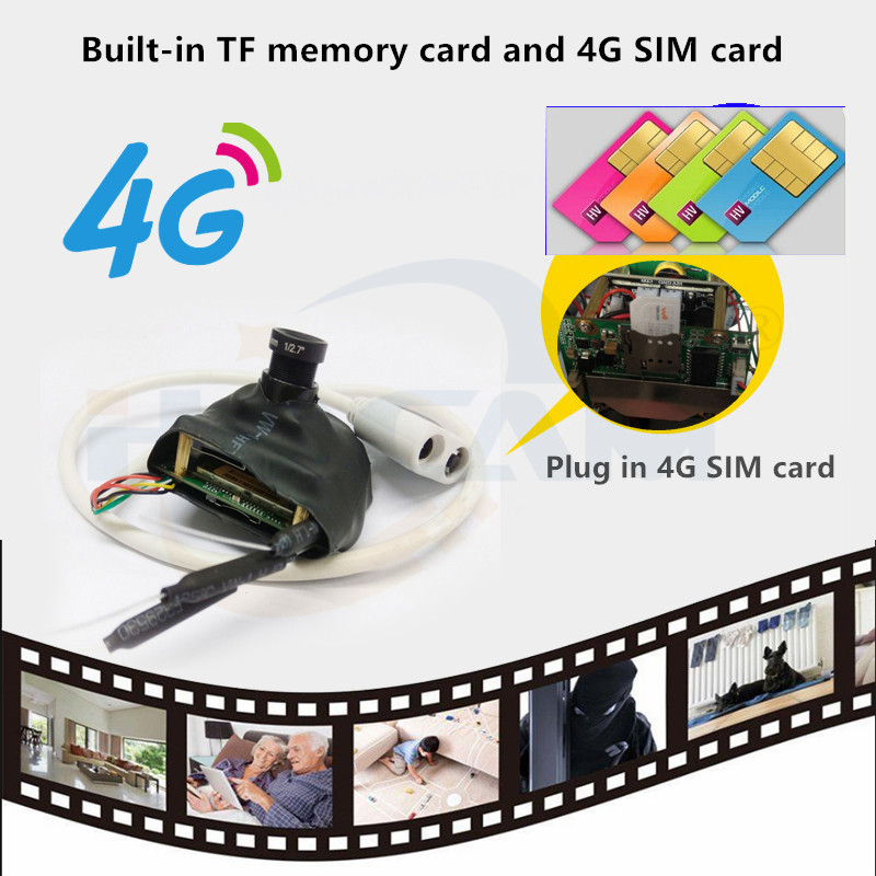 HQCAM 3G 4G SIM Camera Module 5MP IMX335 1920P Wireless MINI 4G Pin Hole Built-in MIC Micro SD Card Slot