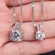 Классическое Свадебное Кристальное серебряное ожерелье с подвеской-каплей для женщин, трендовые стразы, ожерелье, ювелирное изделие