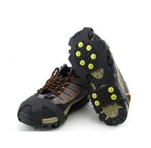 Raki uchwyty kobiet mężczyzn 10 zębów antypoślizgowe Ice Gripper na buty do butów korki Spike Snow Crampon łańcuch do wspinaczki na świeżym powietrzu piesze wycieczki tanie tanio MUQGEW CN (pochodzenie) Crampons