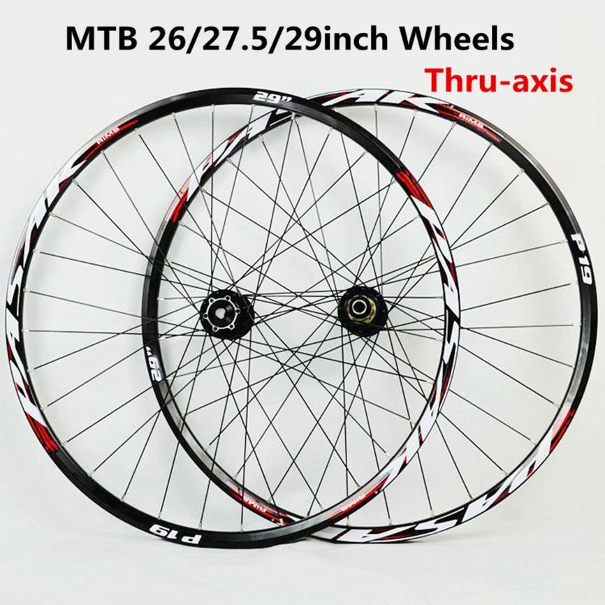 26//27.5er MTB Bicycle Wheels 11S Cassette Carbon Hub Bearings Bike Wheelset /& QR