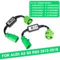 2 предмета в комплекте, для Audi A5 S5 RS5 2012-2019 Динамический указатель поворота светодиодный фонарь светильник Модуль по производству кабелей и п...