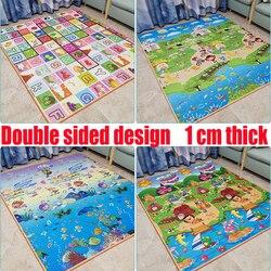 Водонепроницаемый Экологичный детский коврик для ползания, утолщенные детские складные коврики для детей, гостиная, ковер, Детский ковер