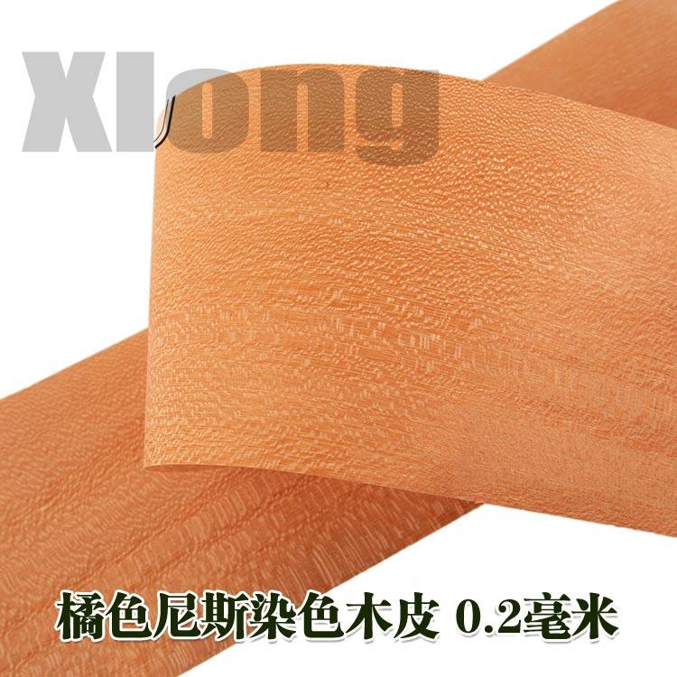 L:2.5Meters Width:180mm Thickness:0.3mm Natural Orange Nice Veneer Orange Yellow Veneer Easy Poplar Dyeing