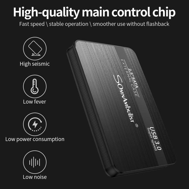 External Hard Drive 2.5 Portable Hard Drive HD Externo 1 TB 2 TB USB3.0 storage, 4