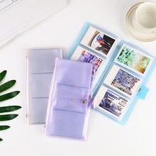 Mini álbum de fotos transparente para Polaroid, Fujifilm Instax Mini 9, 8, 90, 70, 25, soporte para cámara de Tarjeta De Nombre, 72 bolsillos, 3 pulgadas