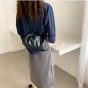 Image 5 - Luxury Designer New Cloud Shape Women Day Clutch Bag Pleated Dumpling Shoulder Messenger Bag Small Cute Lady Crossbody Handbag