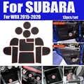 Für Subaru WRX 2015-2020 13 teile/satz Gummi Tasse Pad Auto Innen Slot Pad Abdeckungen Tür Nut Matte Anti -slip rot/weiß/leucht