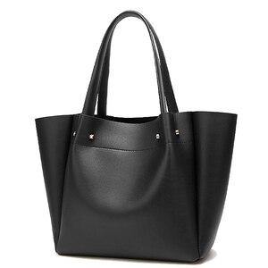Image 2 - Tote bolsos mujer bolsas de couro crossbody para mulheres sling ombro shopper grande mão saco de 2019 bolsas de couro