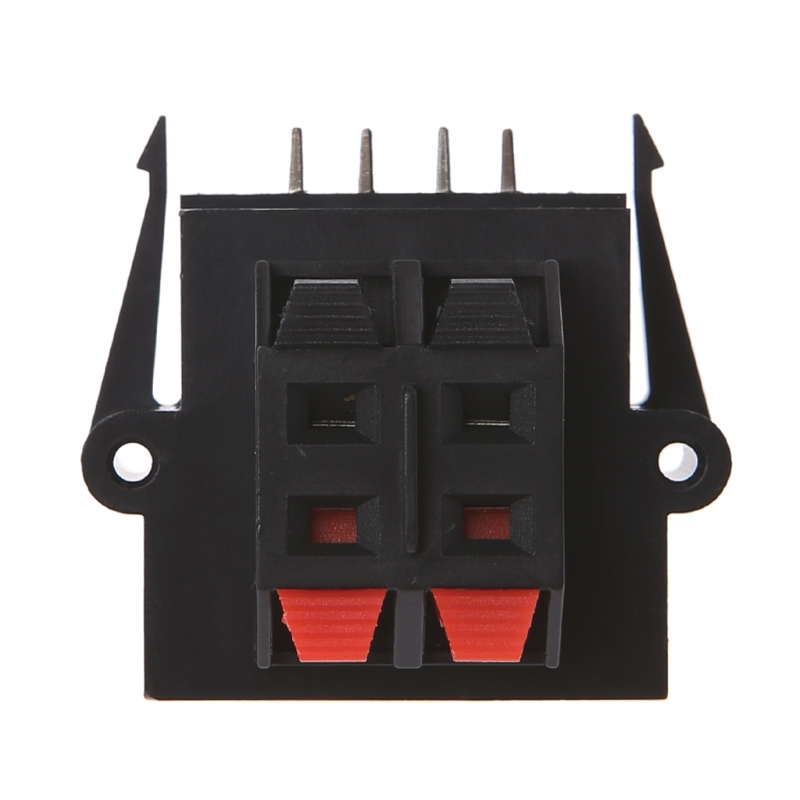4 Way 2 Row Push Release Connector Strip Block Plate Stereo Speaker Terminal