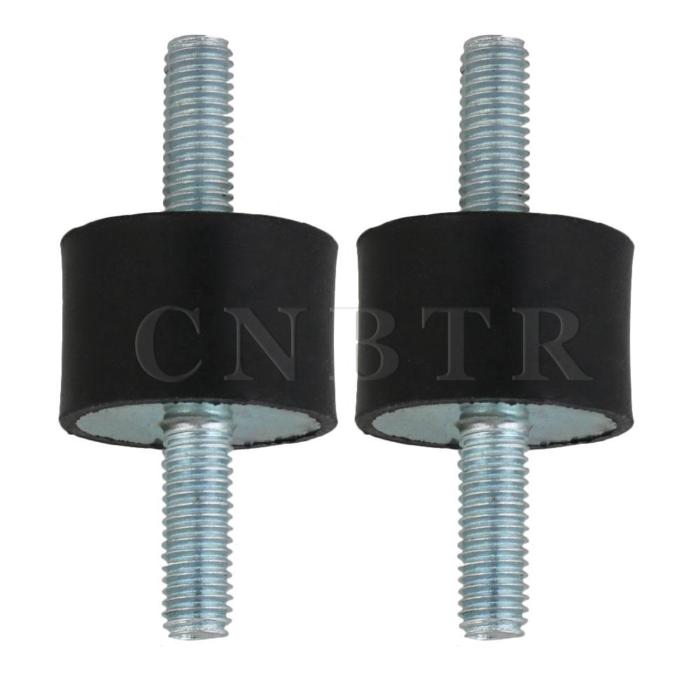 CNBTR 30x20mm Rubber Vibration Isolator Mounts M8 Double Screw Damper Set Of 2