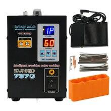 SUNKKO soldador por puntos, 737G, iluminación LED de 1.5kw, pantalla Digital doble, máquina de soldadura de doble pulsación para batería de 18650