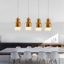 Plated Copper/gold/chrome Single Glass Pendant Lights Modern Dining Room Lights Small Cheap Suspension Light Lustre Luminaire