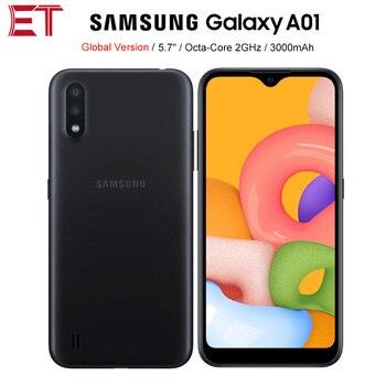 Перейти на Алиэкспресс и купить Новый Samsung Galaxy A01 A015F-DS мобильный телефон Глобальная версия 5,7 дюйм2 Гб ОЗУ 16 Гб ПЗУ OctaCore 3000 мАч Dual SIM смартфон Android 10